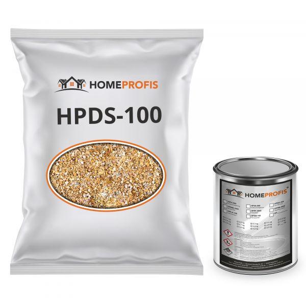 """HPST-5000 Steinteppich (Outdoor) 100kg """"Giallo Mori"""" inkl. 4kg PU-Bindemittel"""