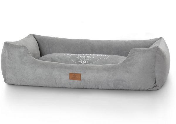 Hundebett Liam aus Velours Grau (120 x 85 cm)