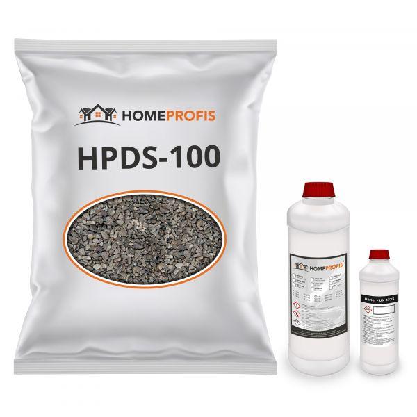 """HPST-2000 Steinteppich (Indoor) 50kg """"Grigio Platino"""" inkl. 3kg Bindemittel"""