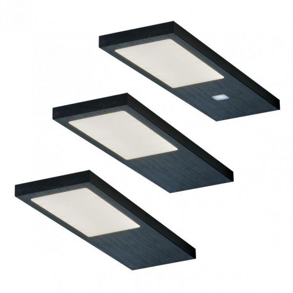 Gamma Noir 3er-Set LED Leuchte (422053)