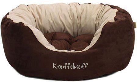 Hundebett Dooly aus Velours Braun (110 x 95 cm)