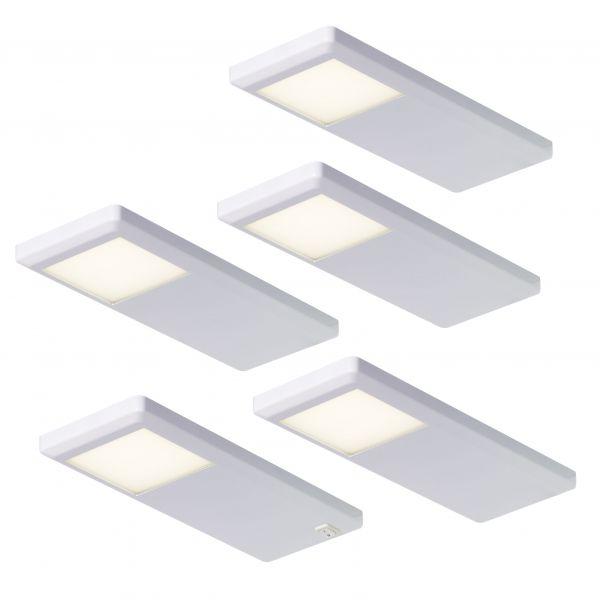 Pinto Weiß 5er-Set LED Leuchte (415895)