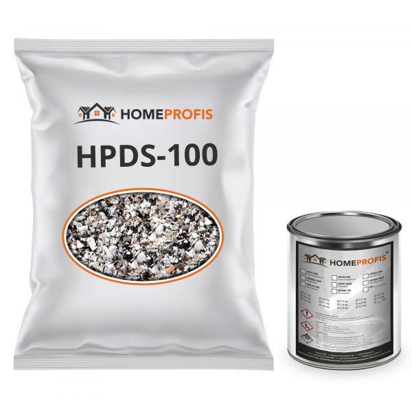 """HPST-5000 Steinteppich (Outdoor) 25kg """"Grigio Perla Venato"""" inkl. 1kg PU-Bindemittel"""
