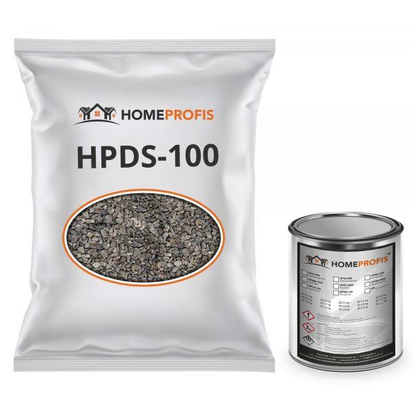 """HPST-5000 Steinteppich (Outdoor) 100kg """"Grigio Platino"""" inkl. 4kg PU-Bindemittel"""
