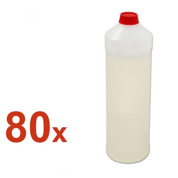 80x leere 1L Plastikbehälter