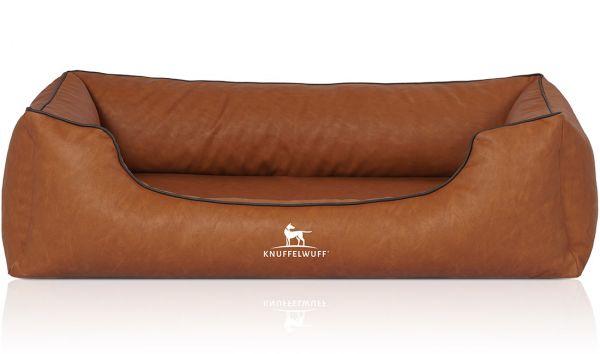 Hundebett Henderson aus Kunstleder Rusty (105 x 75 cm)