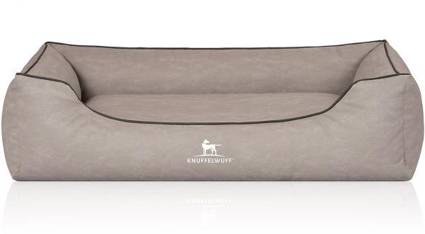 Hundebett Scottsdale aus Kunstleder Hellgrau (155 x 105 cm)