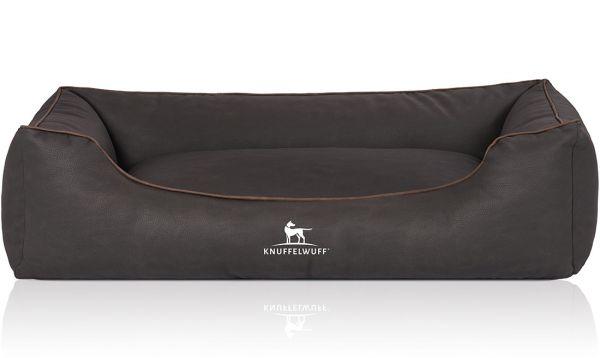 Hundebett Scottsdale aus Kunstleder Schwarz (105 x 75 cm)