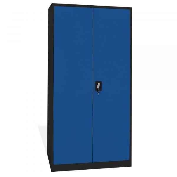 Home Profis HPMAS-185 Metall Aktenschrank in Schwarz-Blau