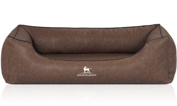 Hundebett Henderson aus Kunstleder Braun (85 x 63 cm)