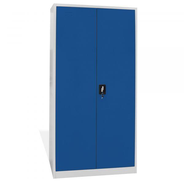 Home Profis HPMAS-185 Metall Aktenschrank in Grau-Blau