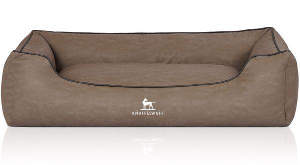 Hundebett Scottsdale aus Kunstleder Stone (85 x 63 cm)