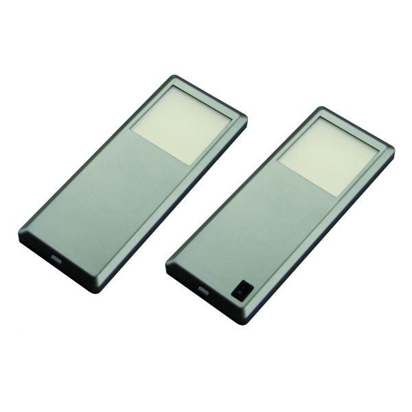 Pinto Edelstahloptik 2er-Set LED Leuchte (415882)