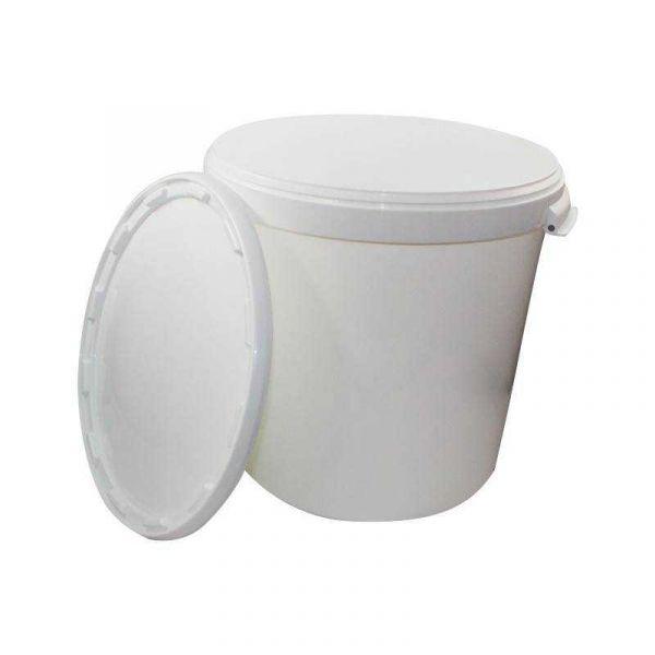 Plastikeimer in weiß (30L)