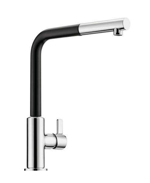 Kludi L-INE XS 3S Küchenarmatur Hochdruck Chrom (Schwarz) - 5023222