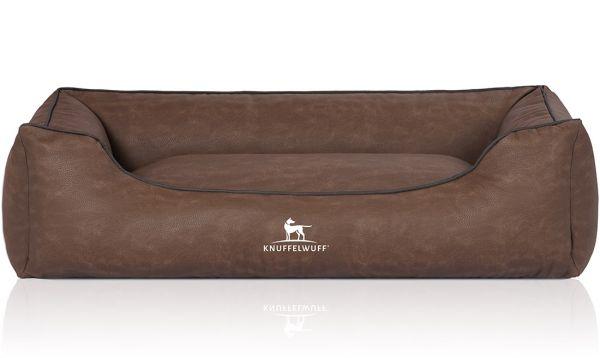 Hundebett Scottsdale aus Kunstleder Braun (155 x 105 cm)