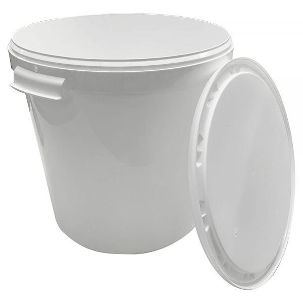 KE.030 - Plastikeimer in weiß (30L)